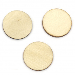 Wooden circle for DIY Jewelry and Crafts 22x22x2 mm color wood - 20 pieces