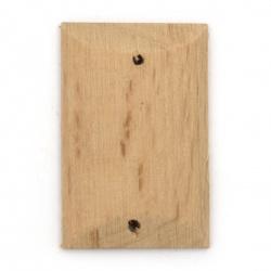 Ορθογώνιο ξύλινος σύνδεσμος 34x22x4,5 mm τρύπα 2 mm -2 τεμάχια