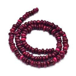 Наниз мъниста кокос 5~8x5~7 мм дупка 2 мм розово-червен ~105 броя
