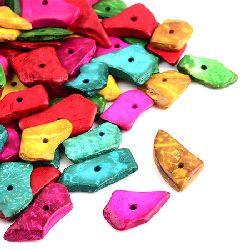 Margele  de nucă de cocos 11 ~ 33x6,5 ~ 16x2 ~ 3,5mm Gaura 2mm MIX -20g