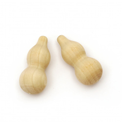 Decorative wooden Gourd 44x20 mm color wood - 5 pieces