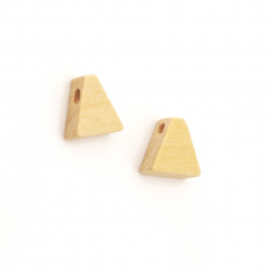 Wooden Pendant Figurine for Decoration  10x10x5mm Hole 2mm Color Wood - 20 Pieces
