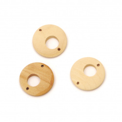 Wooden Connector for decoration 20x4 mm hole 1.5 mm color wood - 10 pieces