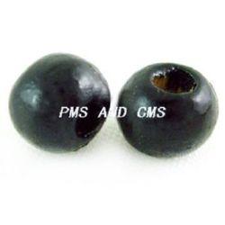 Топче дърво 6x7 мм дупка 2~3 мм черно -50 грама ~450 броя