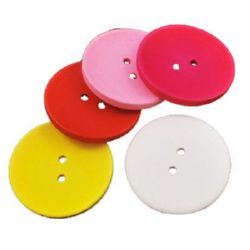 Round wooden flat button 15x4 mm hole 1.5 mm mix - 10 pieces