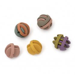 Модулно мънисто 23.5~24 мм дупка 2.5 мм цвят Асорте -1 комплект