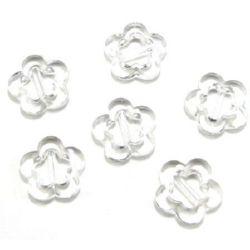 Χάντρα απομίμηση κρύσταλλο 28x6 mm διαφανές - 50 γραμμάρια