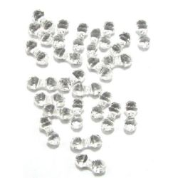 Мънисто кристал фигурка 15x6 мм МИКС -50 грама
