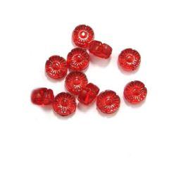 Χάντρα απομίμηση κρύσταλλο λουλούδι 13x6 mm κόκκινο -50 γραμμάρια