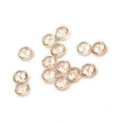 Margele cristal  abacus 10x7 mm gaură 1,5 mm caramel -50 grame ~ 140 bucăți