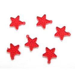 Κρεμαστό απομίμηση κρύσταλλο αστέρι 315x35x4 mm τρύπα 3 mm κόκκινο -50 γραμμάρια ~ 22 τεμάχια