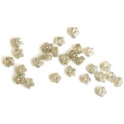 Imitație de flori. pietricele transparente 7 mm -50 grame