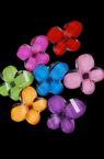 Мънисто с цветна основа пеперуда 17x20x5.5 прозрачно -10 броя