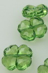 Мънисто кристал детелина 12x5 мм дупка 1.5 мм зелено тъмно - 50 грама ~ 100 броя