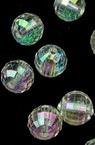 Мънисто кристал топче 8 мм дупка 1.5 мм фасетирано ДЪГА -50 грама ~ 170 броя