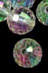 Χάντρα απομίμηση κρύσταλλο σφαίρα 12 mm διαφανές ιριδίζον -50 γραμμάρια