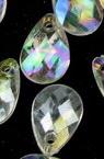 Висулка кристал капка 10x8 мм плоска многостен ДЪГА -20 грама ~ 116 броя
