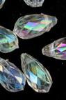 Κρεμαστό απομίμηση κρύσταλλο σταγόνα / δάκρυ 11x5 mm διαφανές ιριδίζον -20 γραμμάρια ~ 104 τεμάχια
