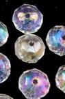 Мънисто кристал шайба 8х6 мм дупка 1 мм прозрачно ДЪГА многостен -50 грама ~240 броя