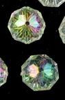 Мънисто кристал шайба 12х8 мм дупка 1 мм прозрачно ДЪГА -50 грама ~ 60 броя
