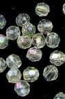 Мънисто кристал топче 4 мм дупка 1 мм прозрачно ДЪГА многостен -20 грама ±680 броя