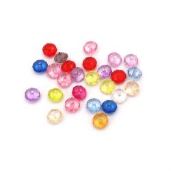 Margele de cristal abacus 8x6 mm gaură 1 mm amestec -50 grame ~ 240 bucăți