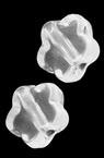 Мънисто кристал цвете 9x4 мм дупка 1.8 мм прозрачно -50 грама ~ 220 броя