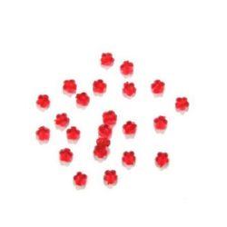 Χάντρα απομίμηση κρύσταλλο λουλούδι 9x4mm τρύπα 1,8mm Κόκκινο -50 γραμμάρια ~ 220 τεμάχια