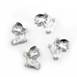 Κρεμαστό απομίμηση κρύσταλλο χιονολούλουδο 29x30x8 mm τρύπα 25 mm διαφανές -50 γραμμάρια ~ 23 τεμάχια