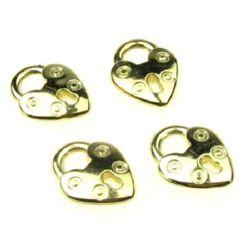 Pandantiv CCB inimă 20x15.5x4 mm culoare aur -10 grame ~ 18 bucăți