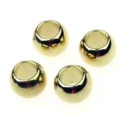 Miargele CCB bilă 12x10 mm gaură 6,5 mm culoare aur -20 bucăți