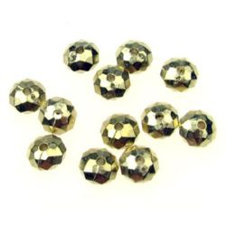 Margele CCB abacus 6x4 mm gaură 2 mm culoare aur -20 grame ~ 220 buc
