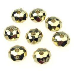 Margele CCB abacus 8x5mm gaură 2mm culoare aur -20g ~ 124buc