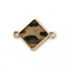 Свързващ елемент CCB ромб 31x23x4 мм дупка 3 мм декорация текстил -5 броя