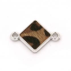 Свързващ елемент CCB ромб 28x20x4 мм дупка 3 мм декорация текстил -5 броя