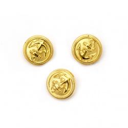 Копче метализе 18x3 мм дупка 3 мм цвят злато -10 броя