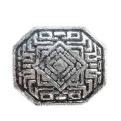 Мънисто метализе фигурка 22x18x8 мм дупка 2 мм цвят сребро -50 грама ± 20 броя