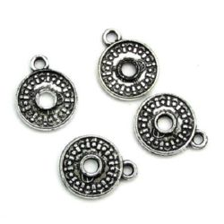 Metallized coin silver 18x22x2 mm hole 3 mm with a ring - 50 grams