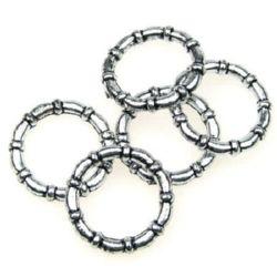 Мънисто метализе халка 3x25 мм цвят сребро -50 грама ~70 броя