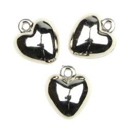 Κρεμαστό καρδιά CCB 14x17 mm τρύπα 2 mm - 20 γραμμάρια ~ 22 τεμάχια