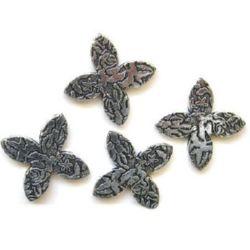 Figurină floare gravată argint metalizat 4 mm -50 grame