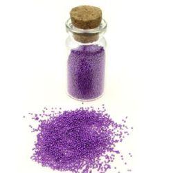 Margele de sticlă 0,6 -0,8 mm culoare solidă decorativă 18 -10 grame