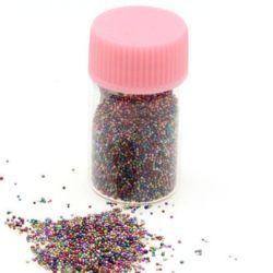 Perle de sticlă 0,6 -0,8 mm perle decorative decorative colorate -10 grame