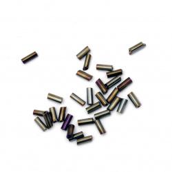 Margele de sticlă  4.5x2 mm gaură de 1 mm arc de iris -50 grame
