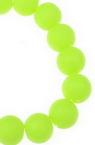 Șirag de mărgele 8mm Gaură 1mm Cauciuc neon galben ~ 80cm ~ 105 Bucăți