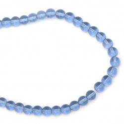 Наниз мъниста стъкло топче 10 мм прозрачно синьо светло ~41 броя