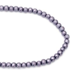 String rough glass beads 8~8.5x7.5~8 mm hole 1.5 mm purple ~ 106 pieces