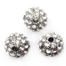 Metal Shambhalla cu margele cu cristale de 10 mm gaură de 1,7 mm platină