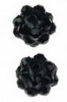 Мънисто шамбала полимер с кристали 8x10 мм дупка 1 мм черно