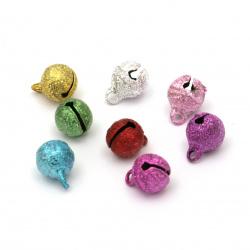 Clopot metalic 8x10 mm gaură 1,5 mm mix de culori -20 bucăți